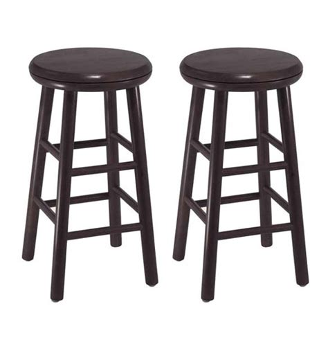 swivel counter stools 24 inch 24 inch wooden swivel bar stools espresso set of 2 in