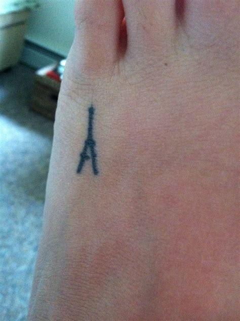 tower tattoo mini eiffel tower best friend prior
