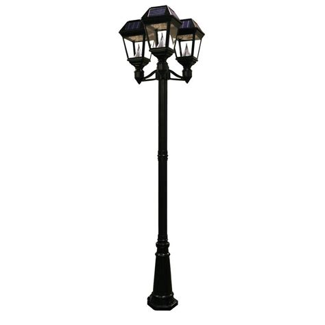 Solar Pole Lights Outdoor Gama Sonic Imperial Ii 3 Solar Black Outdoor