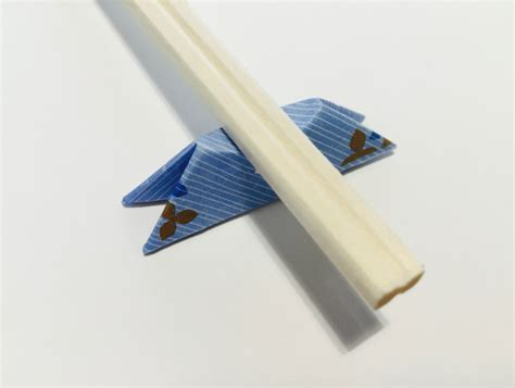 Origami Chopstick Holder - origami chopstick rest mount fuji in 8 easy