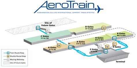 iad airport map terminal gate maps