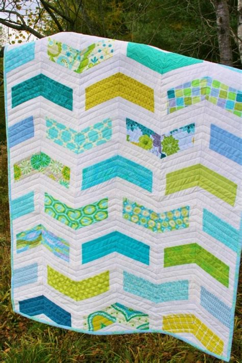 Size Chevron Quilt Pattern by Chevron Baby Quilt Pattern Modern Quilt Pattern Instant