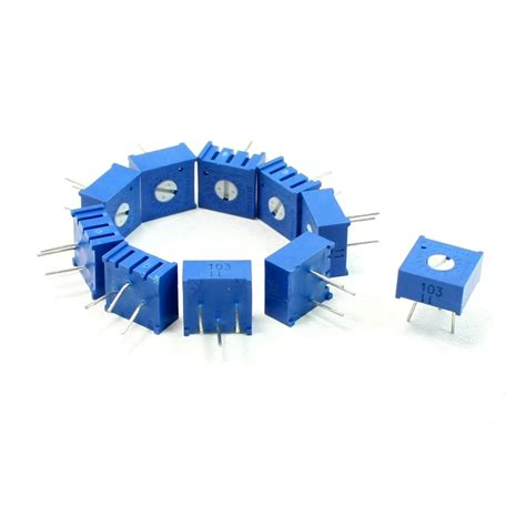 explain the purpose of the 10 ohm variable resistor in the circuit 10 pcs 10k ohm top adjustment variable resistors potentiometer t4r9 ebay