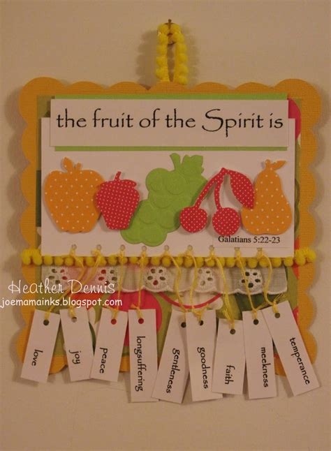 fruit of the spirit crafts for fruit of the spirit fruit of the spirit