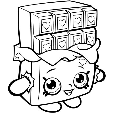 shopkins lipstick coloring page coloring pages people shopkins cheeky chocolate download