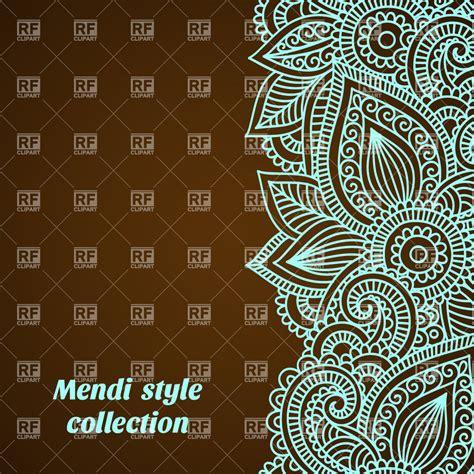 mendi style background indian tracery royalty free floral background with ethnic indian tracery mendi style