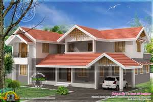 Home Desig 3d Home Design In 2860 Sq Feet Kerala Home Design And