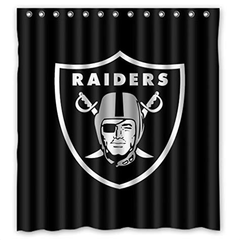oakland raiders shower curtain oakland raiders shower curtains price compare
