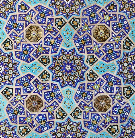 pattern in islamic art splendid mosaic from 15th century at the south iwan of