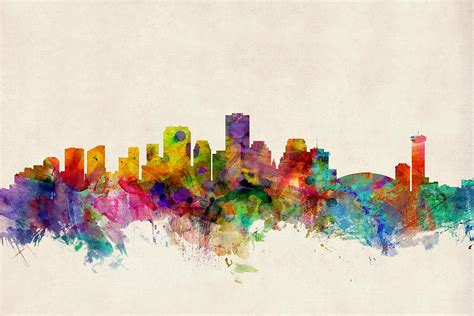 new orleans louisiana skyline digital art by michael tompsett