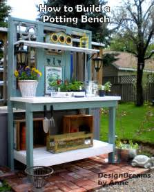 Simple Wooden Work Bench Plans by Designdreams By Anne How To Build A Potting Bench Part Ii Add A Roof