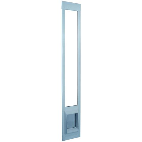 Patio Cat Door Ideal Pet 15 In X 20 In Large White Aluminum Pet Patio Door Fits 77 6 In To 80 4 In