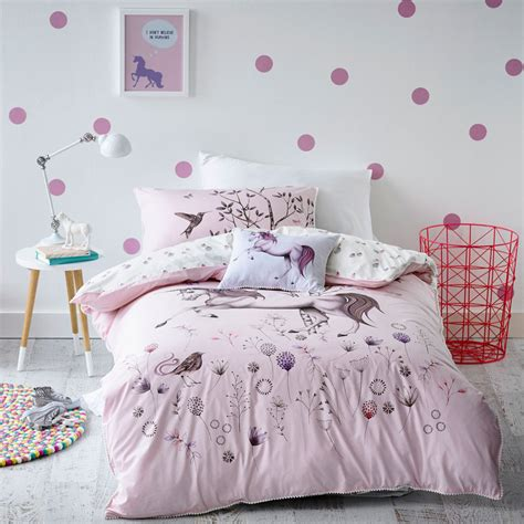 unicorn bedroom magical unicorn dreaming quilt cover set bedding single