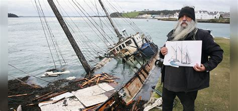 ship owner tall ship owner whose vessel sank in strangford lough asks
