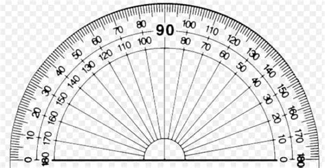 printable protractor with ruler calibration of folding ruler scale to read roof slopes
