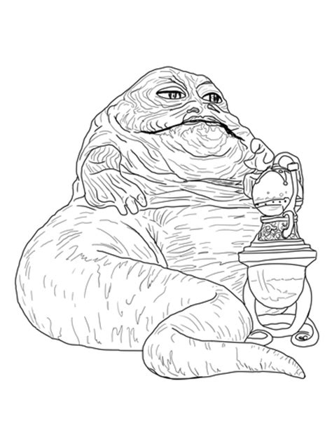 jabba coloring pages jabba the hutt coloring page free printable coloring pages
