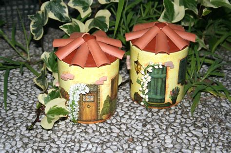 decoupage su vasi di terracotta barattoli casette portatutto bricolageonline net