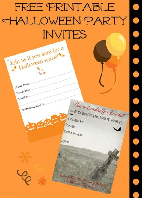 printable free halloween invitations free printable halloween invitations for your super