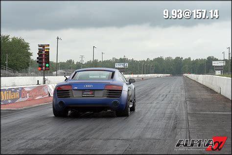 2014 Audi R8 AMS / Alpha Performance TT 1/4 mile trap speeds 0 60 DragTimes.com