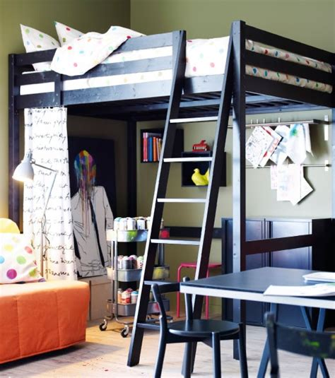 Storå Loft Bed Frame Black Stor 197 Loft Bed Frame In Black With Ikea Ps 2012 Bed Linen Cannon Time Pinterest Bed
