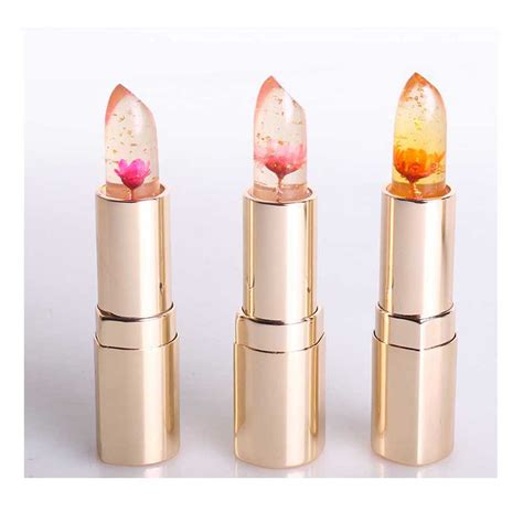 Lipstik Jelly 3 colors flower jelly lipstick color changeable