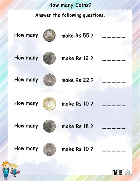 How Many Is Many by Money Grade 1 Math Worksheets Page 2