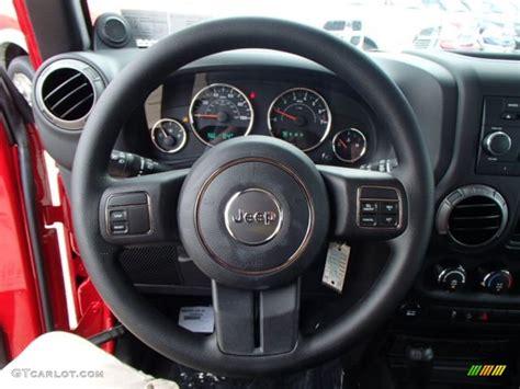 Jeep Wrangler Steering Wheel 2013 Jeep Wrangler Unlimited Sport 4x4 Steering Wheel