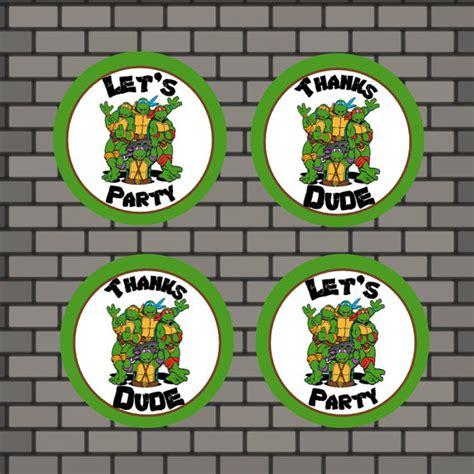 ninja turtles printable name tags printable ninja turtle tags instant download ninja
