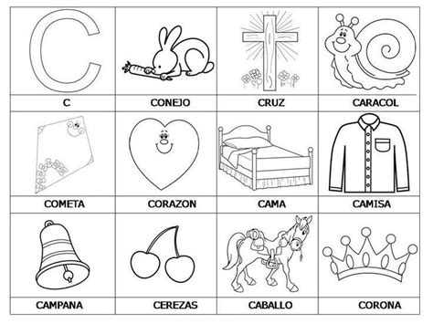 imagenes que empiecen con la letra s para colorear palabras que empiezan con el c spaanse woordjes leren