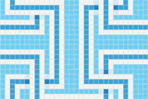 mosaic key pattern blue greek key tile pattern athena lake by artaic