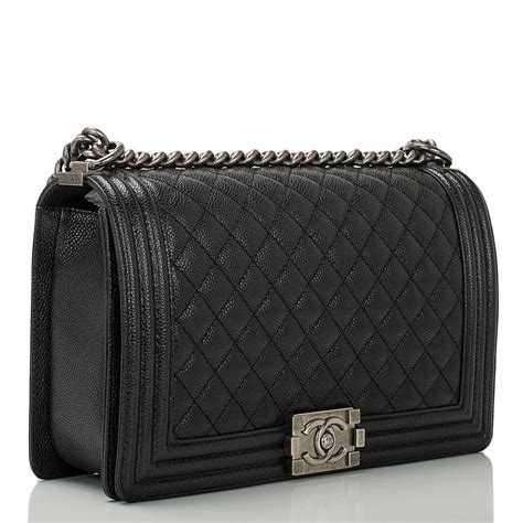 Chanel Boy Bag chanel black caviar new medium boy bag at 1stdibs