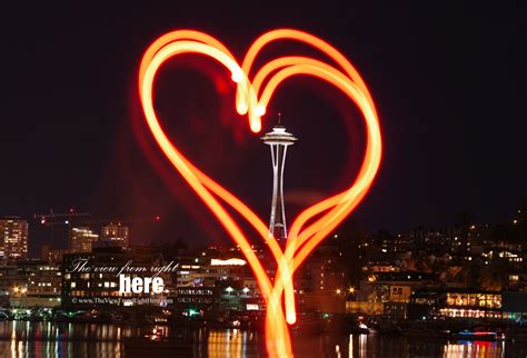 valentines in seattle light painting the view from right here