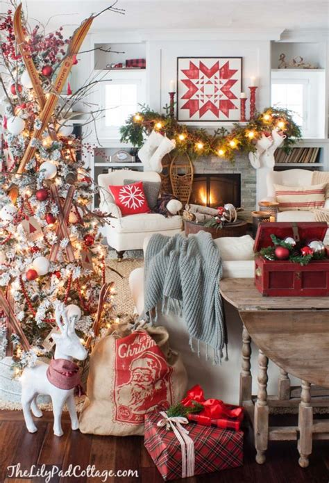cozy ski lodge inspired christmas tour the lilypad cottage