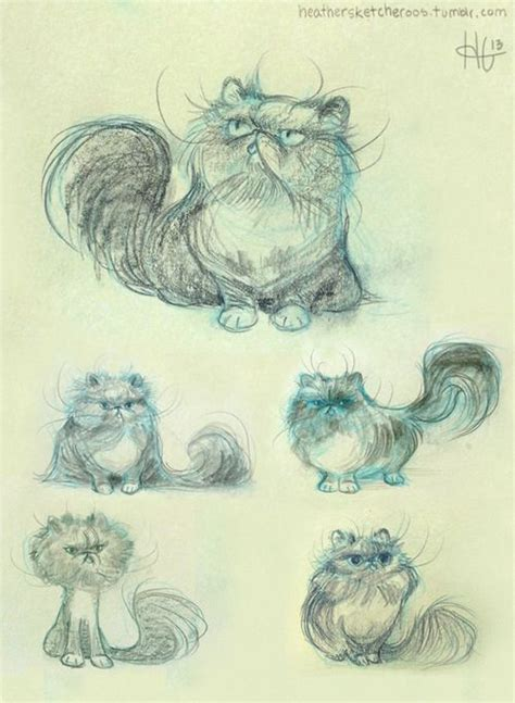 tattoo cat persian some warm up sketches from a commission for rosalind of