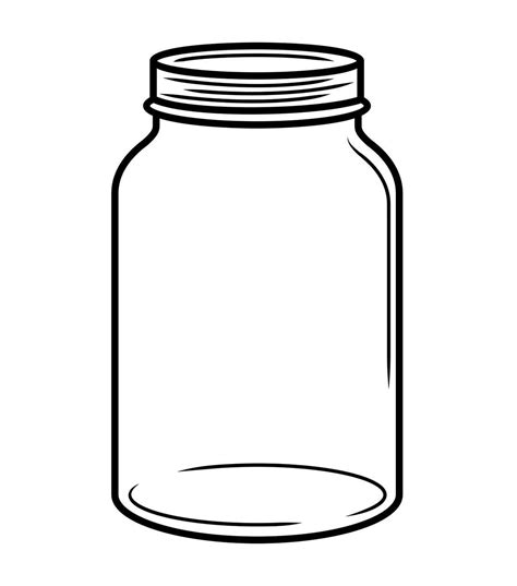 mason jar outline template clipart best