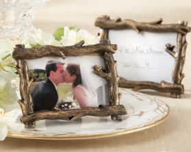wedding card box out of picture frames rustic fall branch place card holder photo frame favor