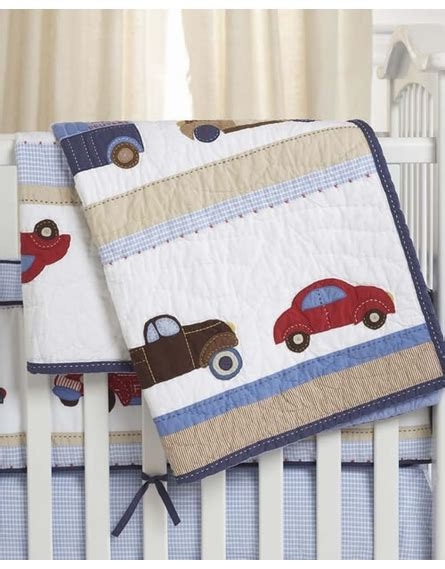 truck crib bedding cars and truck crib bedding set by whistle wink