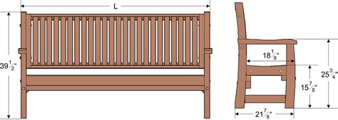size of bench wood bench with wave design seat slats forever redwood