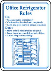 Office Kitchen Etiquette Office Refrigerator Clean Out Signs
