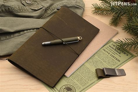 One Fifth Leather Travelers Notebook traveler s company traveler s notebook starter kit regular size olive edition leather