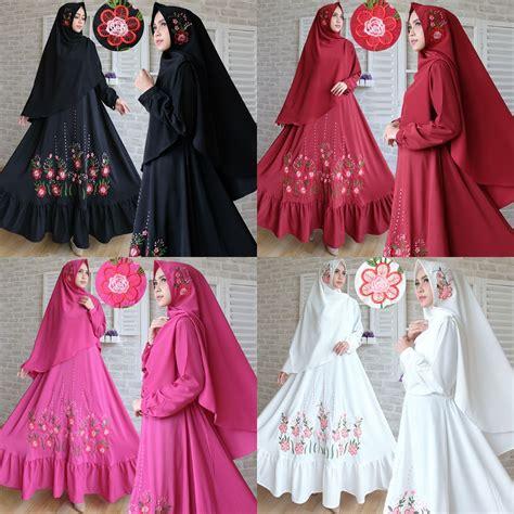 Baju Gamis Syari baju gamis syari woolpeach bordir busana muslim modern