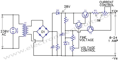 circuit diagram of variable power supply variable power supply 0 24v electronic circuits