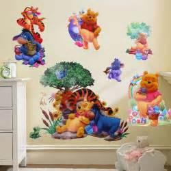 Winnie The Pooh Nursery Wall Decals Winnie The Pooh Vinyl Wall Stickers Decals Nursery Decor Ebay