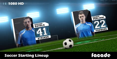 Soccer Starting Lineup Template by Soccer Starting Lineup After Effects Template Huemanelement