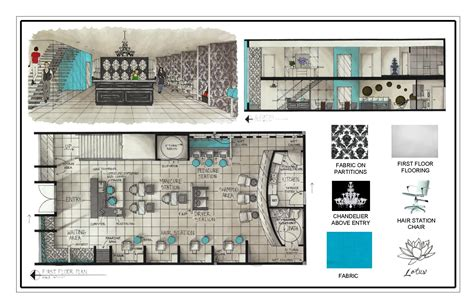 floor plan of a salon portfolio by carolann bond at coroflot com dollhouse
