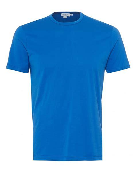 design t shirt blue cotton sunspel mens plain t shirt 100 cotton klein blue tee