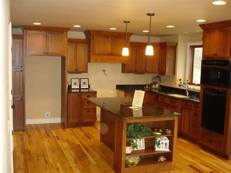 cabinets hickory floors for the home