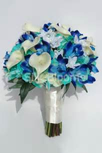 Lily Of The Valley Silk Flowers - artificial galaxy blue orchid calla lily and hydrangea