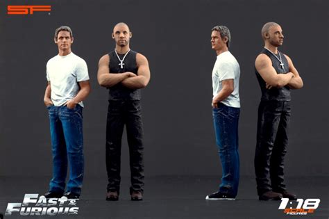 furious 7 figures fast furious 1 figurines brian et dominic 1 18 scale