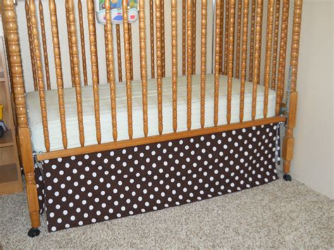 Crib Bed Skirt Pattern Naturally Creative Crib Skirt Tutorial Nursery Makeover On A Budget